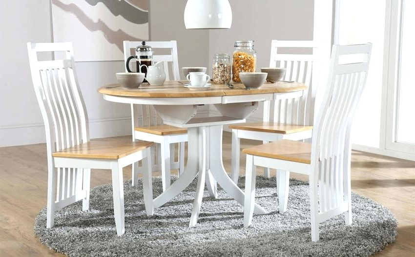 Small White Extending Dining Table White Small White Gloss Extending Inside Preferred Small White Extending Dining Tables (View 8 of 20)