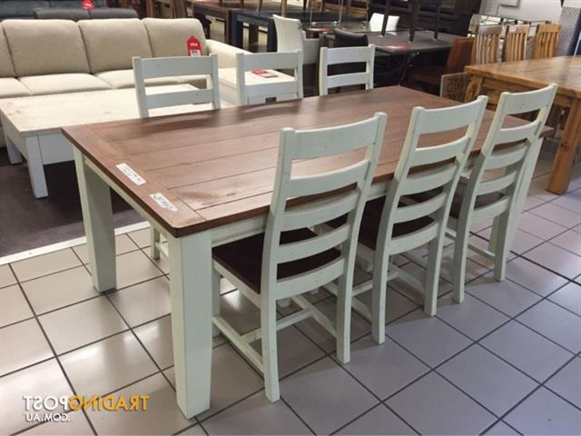 Snowy River Dining Set (7 Pieces) For Sale In Logan Regarding Logan 7 Piece Dining Sets (View 16 of 20)