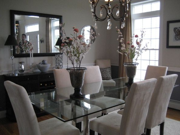 Soft Colors In Dining Room With Contemporary And Traditional Mix Intended For 2017 Modern Dining Room Furniture (View 17 of 20)
