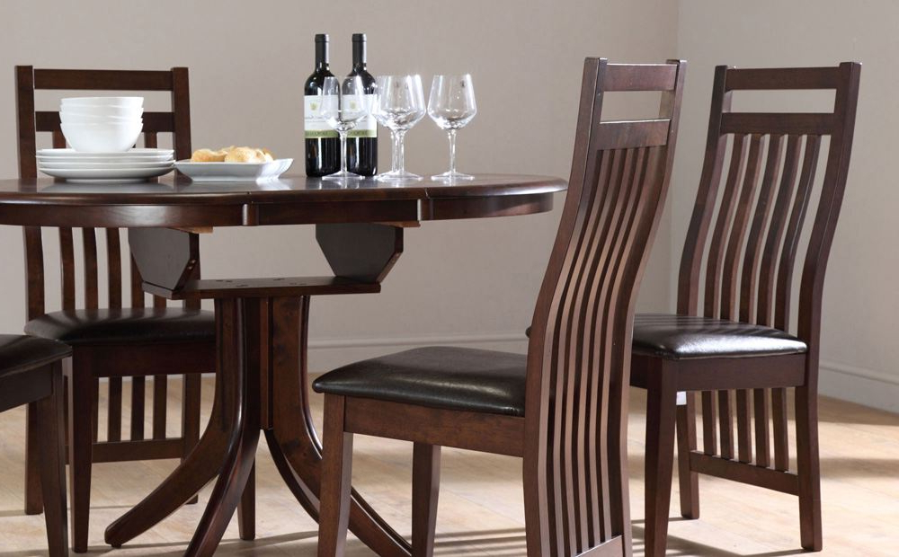 Solid Dark Wood Dining Tables Intended For Well Liked Dining Room Antique Oak Chairs Wholesale Dining Chairs Solid Wood (View 18 of 20)