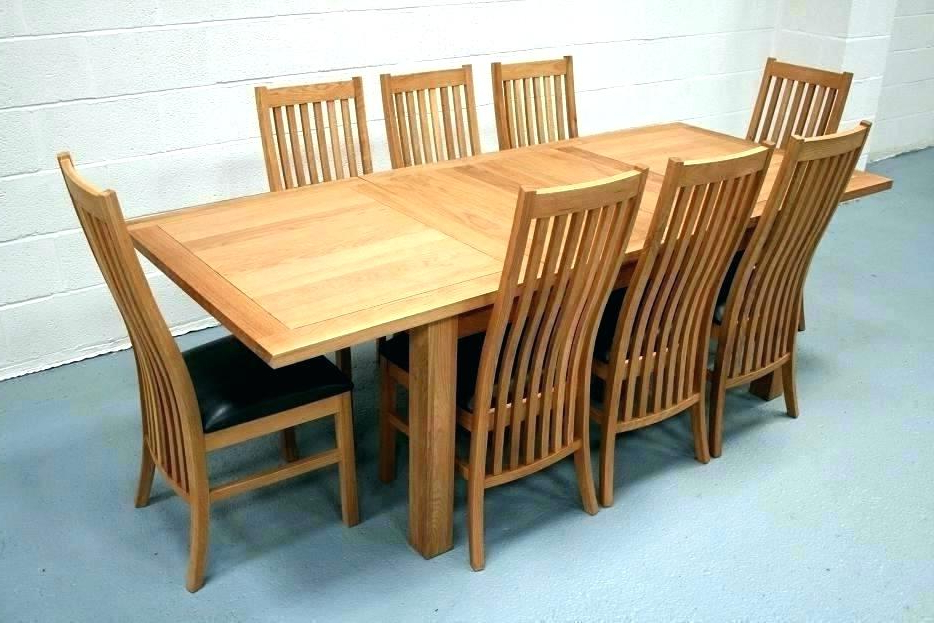 Solid Oak Dining Room Table And 8 Chairs Wood For Sale Round Chair In 2017 Oak Dining Tables 8 Chairs (Gallery 18 of 20)