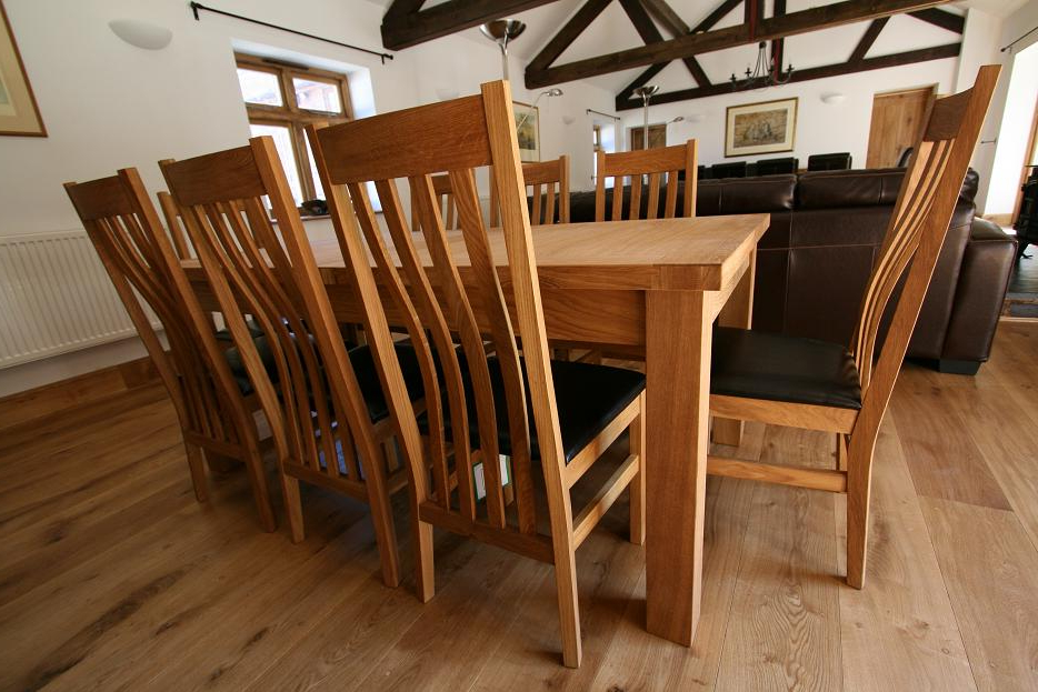 Solid Oak Dining Table Sets For Most Popular Small Extendable Dining Table Sets (View 16 of 20)