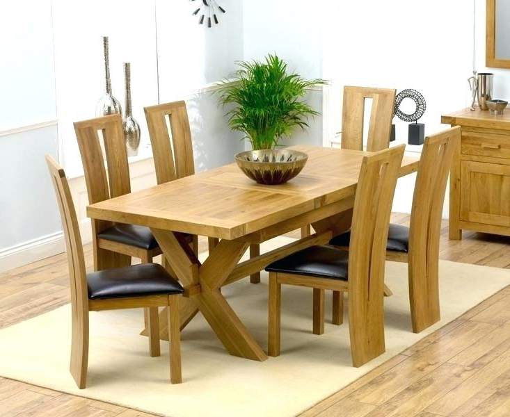 Solid Oak Dining Tables And 6 Chairs Intended For Popular Dining Room Tables For 6 Oak Dining Room Table And Chairs Remarkable (View 12 of 20)