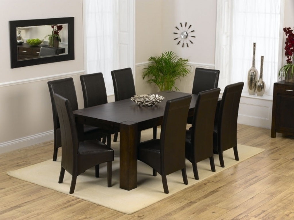 Solid Oak Dining Tables And 8 Chairs Regarding Most Popular Solid Oak Dining Room Table And 8 Chairs 9 Pc Square Dining Table (Gallery 19 of 20)