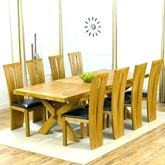 Featured Photo of Solid Oak Dining Tables And 8 Chairs