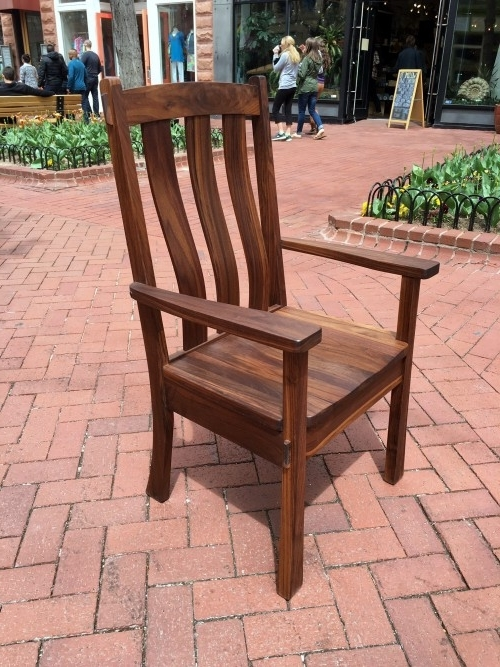 """Solid Walnut """"craftsman"""" Arm Chair (View 13 of 20)"""