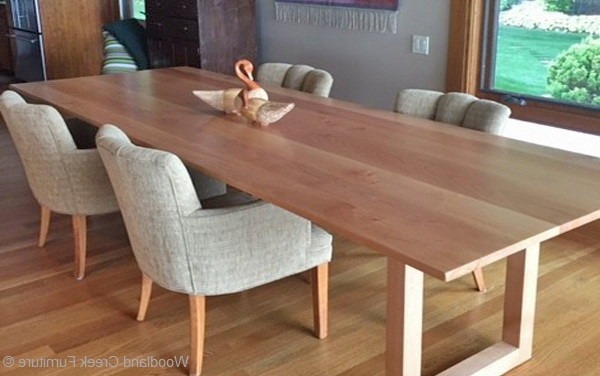 Solid Wood Contemporary Dining Table, Custom Made Dining Table Throughout Most Recently Released Solid Wood Dining Tables (Gallery 1 of 20)