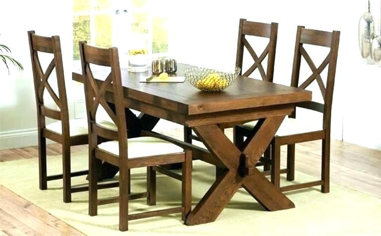 Solid Wood Dining Table Set – Chaletservice With Latest Solid Dark Wood Dining Tables (View 19 of 20)