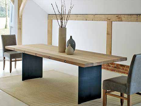 Solid Wood Dining Table Within Most Popular Sleek Dining Tables (View 9 of 20)