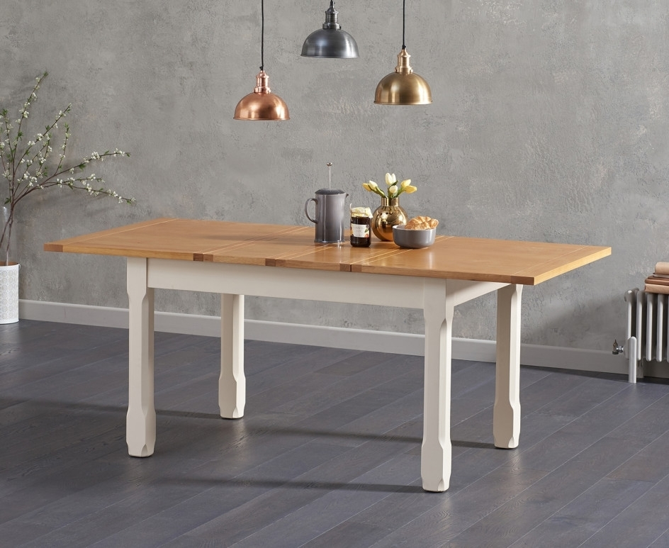 Somerset 130Cm Oak And Cream Extending Dining Table With Candice Inside Most Up To Date Candice Ii Extension Rectangle Dining Tables (View 14 of 20)