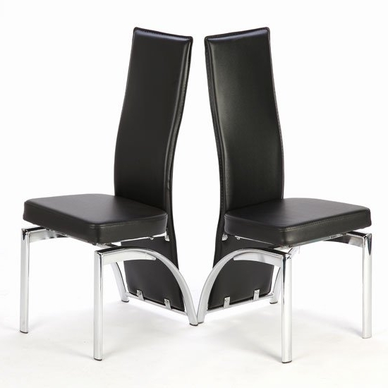 Special Offer!! 2 X Romeo Black Dining Chairs 18985 With Most Recent Black Dining Chairs (View 18 of 20)