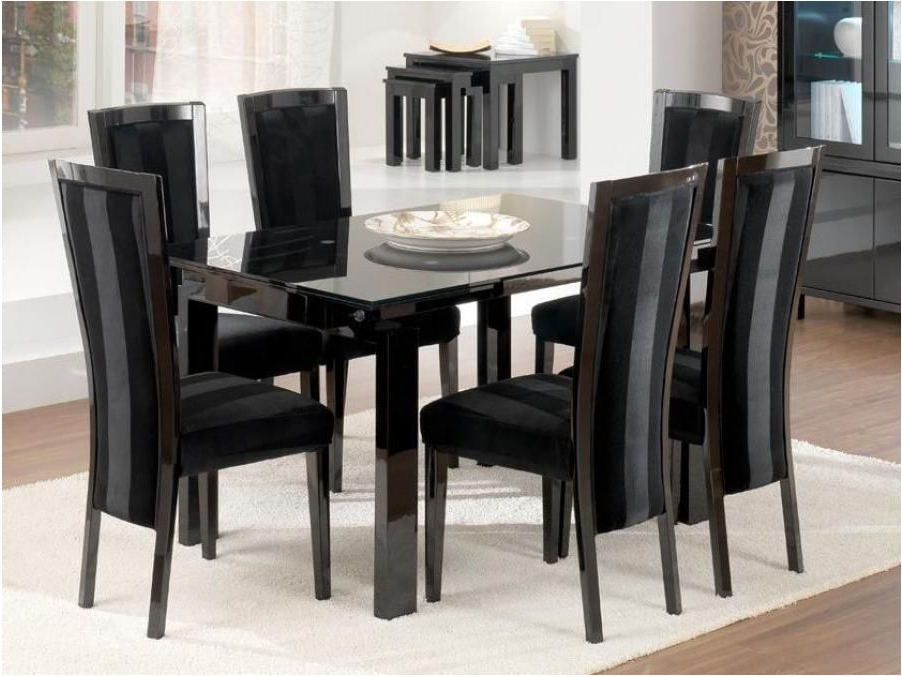 Spectacular Modern Large Extending Black Ash Dining Table Chunky Within Most Current Extending Black Dining Tables (View 20 of 20)