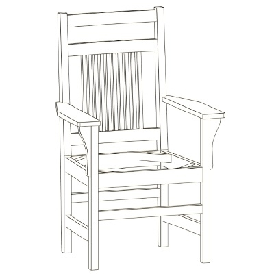 Spindle Arm Chair With Craftsman Back – Shell Lake Woodcrafters Pertaining To Widely Used Craftsman Arm Chairs (View 18 of 20)