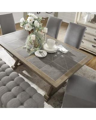 Splendid Design Ideas Grey Wood Dining Set Jaxon 6 Piece Rectangle In Fashionable Jaxon Grey 6 Piece Rectangle Extension Dining Sets With Bench & Wood Chairs (View 13 of 20)