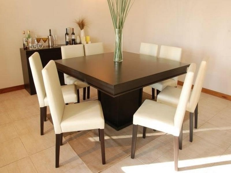 Square 8 Seater Dining Table – Foter Pertaining To Fashionable Black 8 Seater Dining Tables (View 17 of 20)