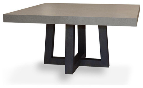 Square Dining Tables In Newest Torre Square Concrete Dining Table – Modern – Dining Tables – (View 12 of 20)