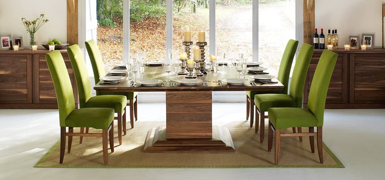 Square Dining Tables In Solid Oak & Walnut, Extending Square Tables Inside Well Liked 8 Seat Dining Tables (View 17 of 20)