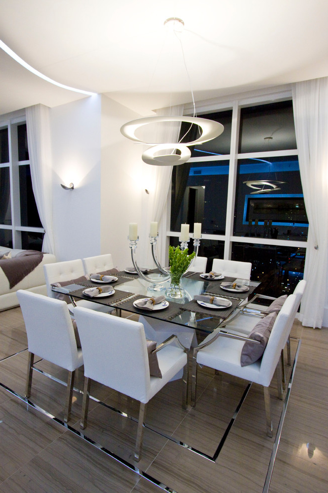 Square Dining Tables Intended For Most Recent Candle Table Setting Ideas Dining Room Contemporary With Miami (View 13 of 20)