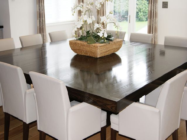 Square Dining Tables Intended For Most Up To Date Pinmarie Jimenez On Home Design In  (View 15 of 20)