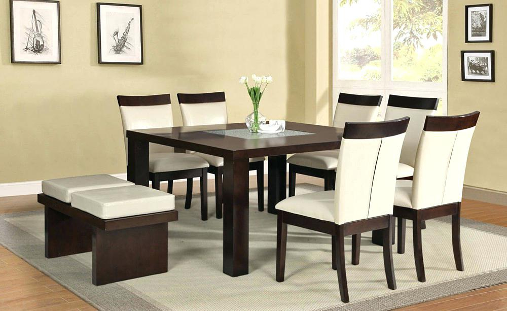 Square Dining Tables Seats 8 Large Size Of Foot Table Picnic Chairs For Favorite Dark Wood Square Dining Tables (View 15 of 20)