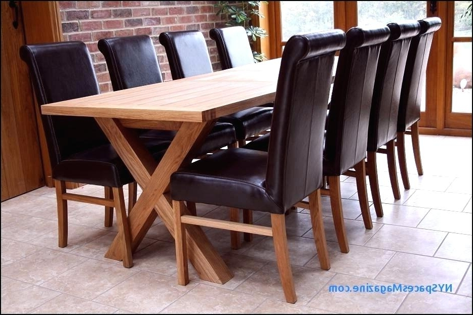 Square Oak Dining Table 8 Seater For Room Tables Large X Design To Intended For Recent 8 Seater Oak Dining Tables (View 18 of 20)