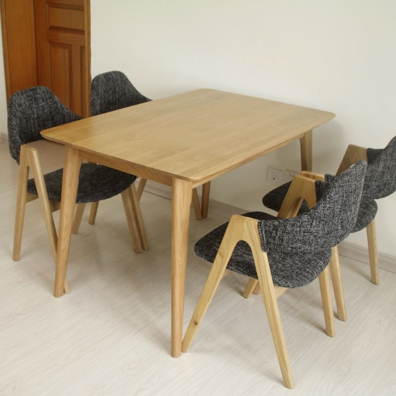 Square Oak Dining Tables In Fashionable Solid Wood Dining Tables And Chairs Combination Square Oak Dining (View 15 of 20)