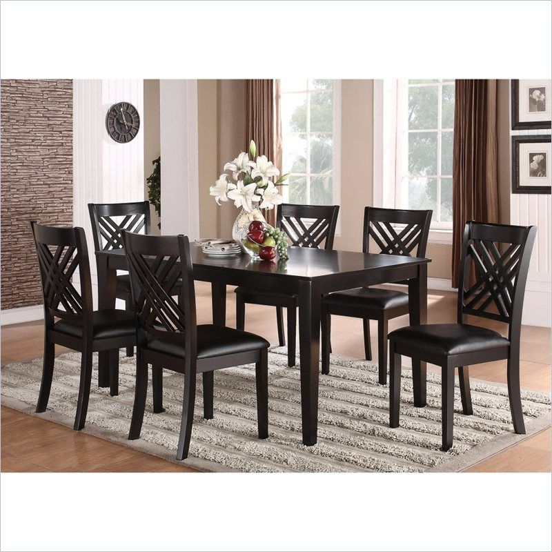 Standard Furniture Brooklyn 7 Piece Rectangular Dining Table Set In Throughout Best And Newest Lindy Espresso Rectangle Dining Tables (View 5 of 20)