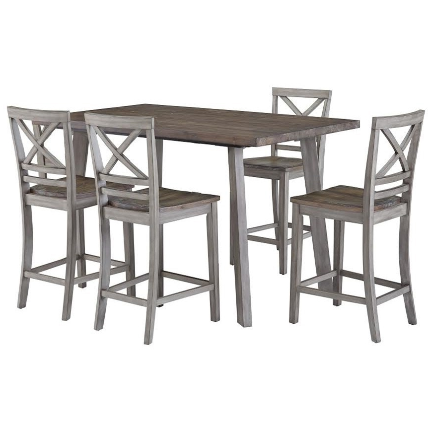 Standard Furniture Fairhaven 12872 Rustic Counter Height Table And Intended For Popular Magnolia Home Hamilton Saddle Side Chairs (View 14 of 20)