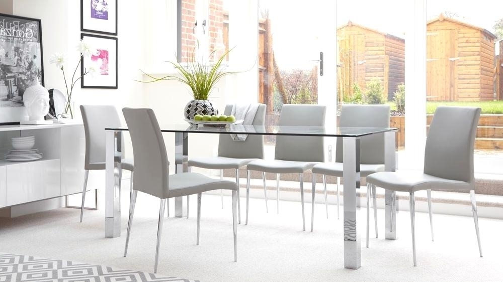 Startling Chrome Glass Dining Table Chrome Dining Table Rectangular Intended For Most Current Chrome Glass Dining Tables (View 7 of 20)