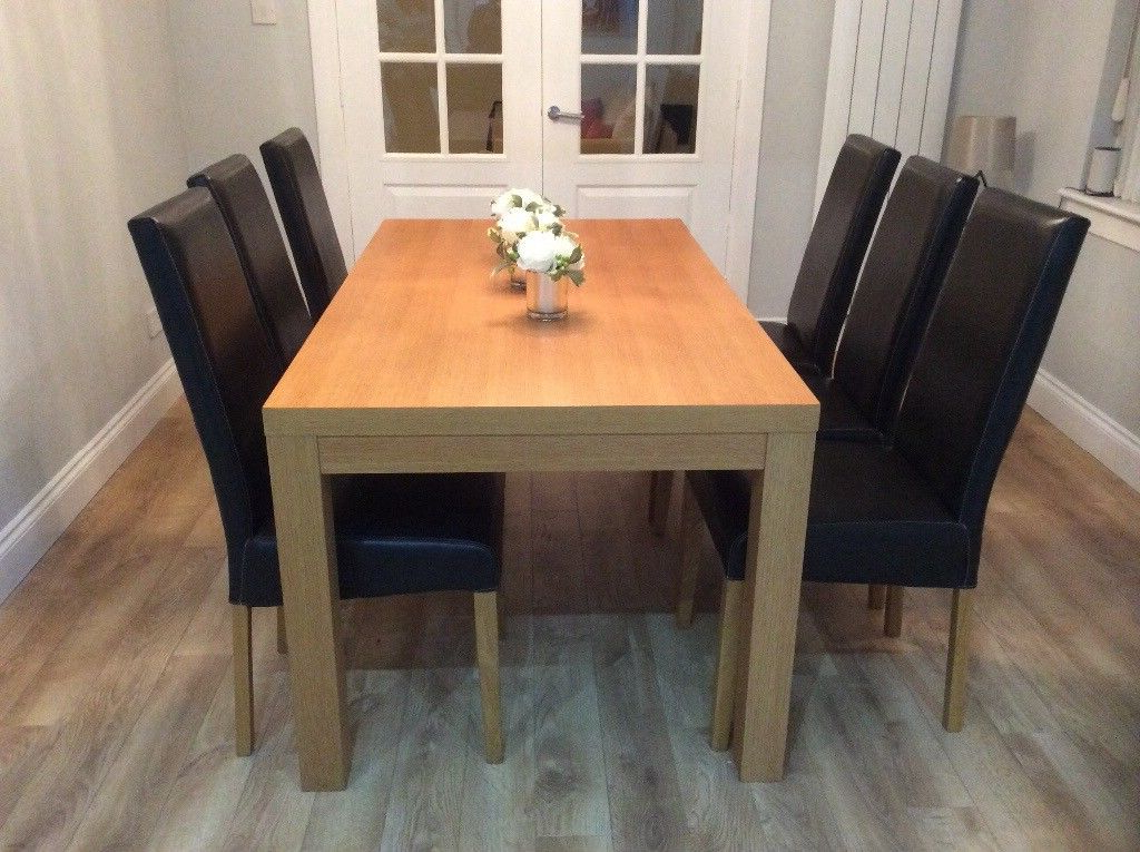 Sterling Furniture Oak Dining Table And 6 Chairs (View 5 of 20)
