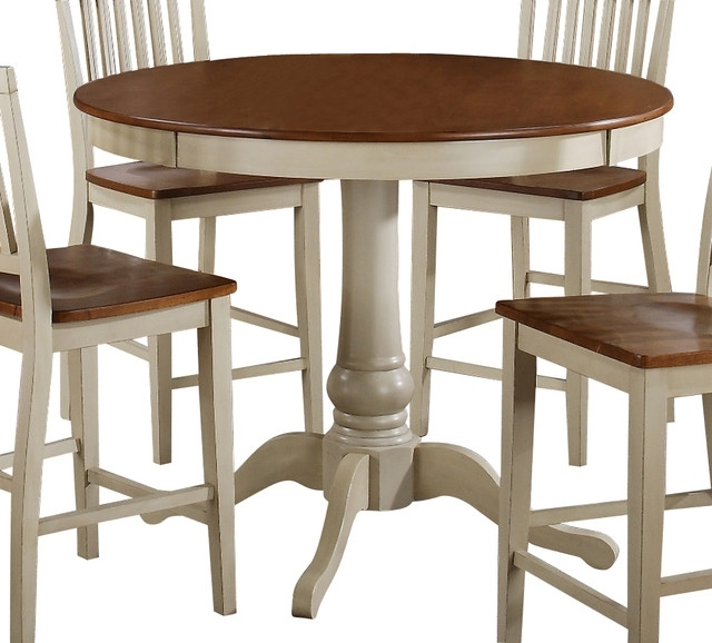 Steve Silver Candice 48 Inch Round Counter Height Table In Oak And Intended For Well Known Candice Ii Round Dining Tables (View 15 of 20)