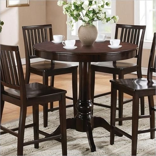 Steve Silver Company Candice Round Counter Height Dining Table In Pertaining To Trendy Candice Ii 7 Piece Extension Rectangle Dining Sets (View 15 of 20)