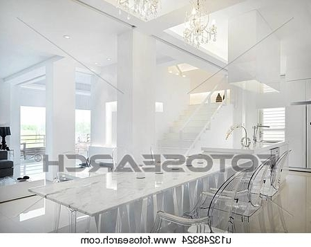 Stock Photo Of Marble Dining Table With Clear Plastic Chairs With Regard To Recent Clear Plastic Dining Tables (View 20 of 20)