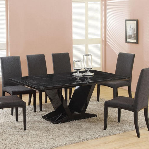 Stone Dining Tables Inside Popular Diamond Black Stone Dining Table, Rs 15000 /piece, Diamond (View 10 of 20)
