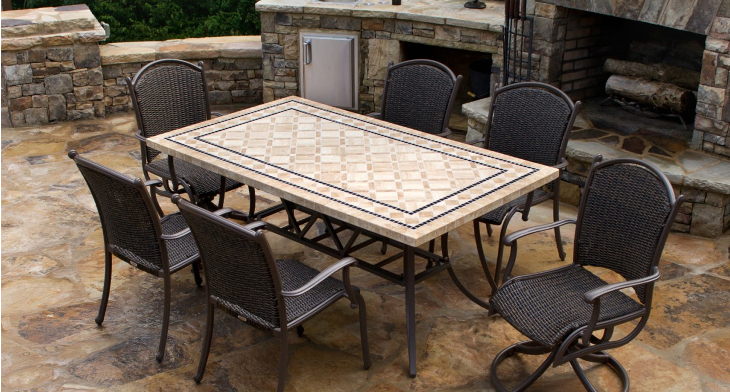 Stone Dining Tables Regarding Latest 18+ Stone Dining Table Design (Gallery 8 of 20)