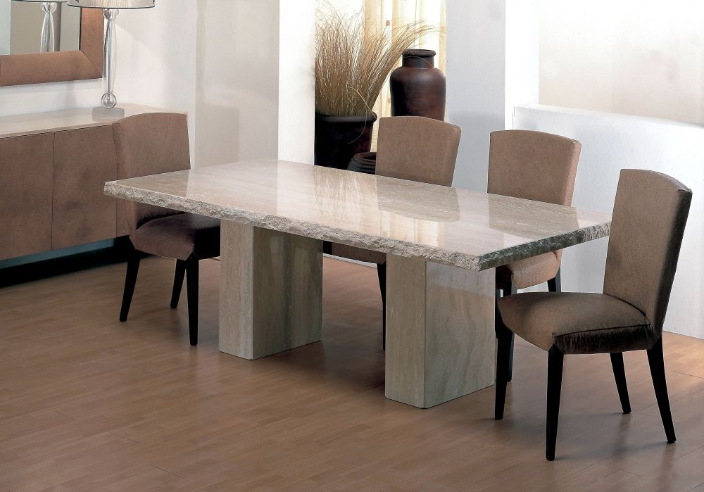 Stone Dining Tables Throughout Recent Stone Dining Room Tables – Www (View 14 of 20)