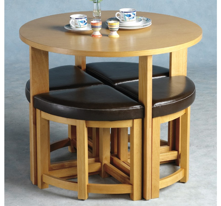 Stowaway Dining Tables And Chairs Pertaining To Widely Used Round Dining Set (View 11 of 20)