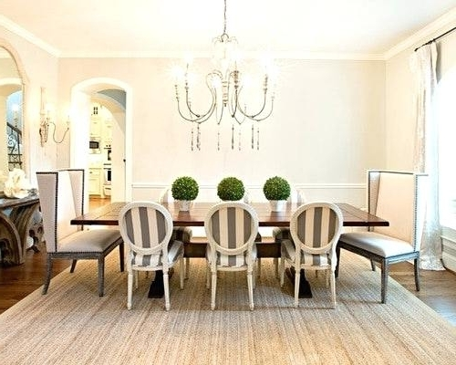Striped Dining Chair Slipcovers Sure Fit Harbor Stripe Dining Room In Preferred Blue Stripe Dining Chairs (View 15 of 20)