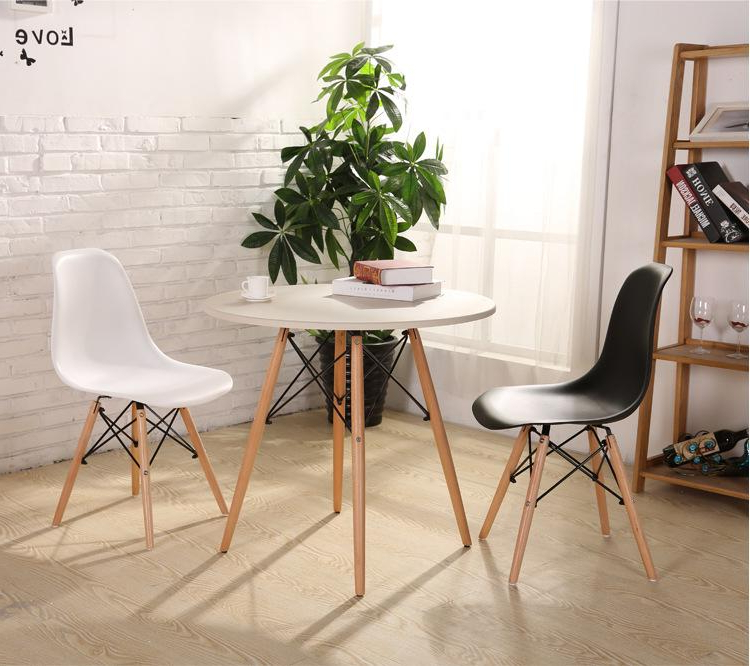 Stylish Dining Chairs Pertaining To Most Popular Fashion Simple Plastic Creative Leisure Coffee Plastic Tables Chairs (View 18 of 20)