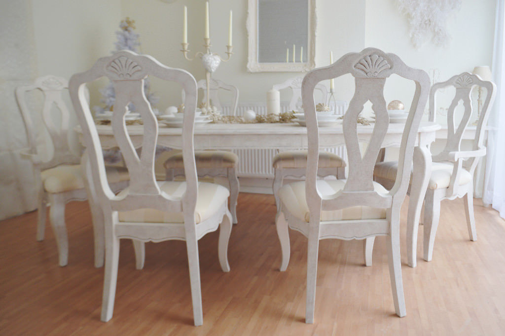 Super Deal !! *** Unique & Beautiful *** Solid French Antique Shabby Intended For Well Liked French Chic Dining Tables (View 11 of 20)