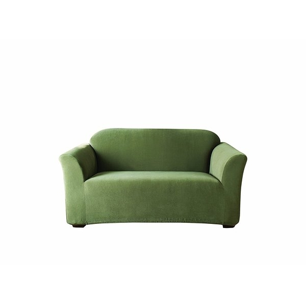 Sure Fit Stretch Pearson Box Cushion Loveseat Slipcover (View 19 of 20)