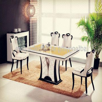 T 1303 Italian Dining Room Tables/ Comtemporary Modern Cheap Marble Inside Most Popular Marble Dining Tables Sets (View 16 of 20)