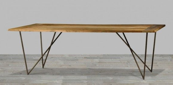 Table Intended For Most Recently Released Iron And Wood Dining Tables (View 20 of 20)