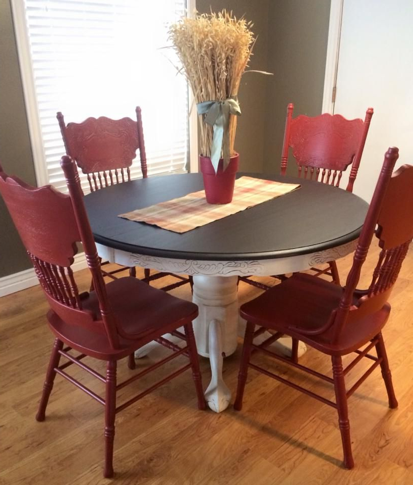 Table Regarding Preferred Red Dining Tables And Chairs (Gallery 11 of 20)