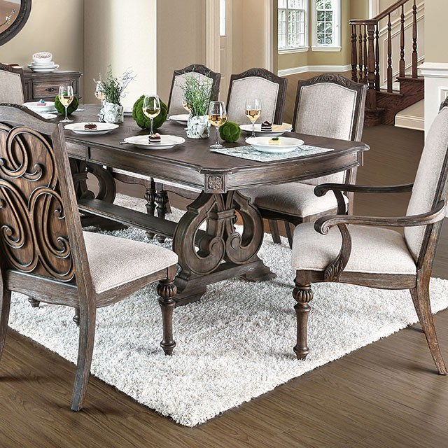 Tables, Chairs, & Servers – Hello Furniture Regarding Well Known Jaxon 7 Piece Rectangle Dining Sets With Upholstered Chairs (View 16 of 20)