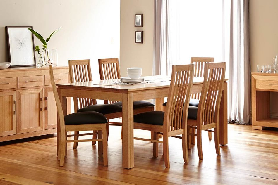Tamworth Dining Suite <br> Tassie Oak With A Natural Finish Within Most Up To Date Oak Dining Suites (View 7 of 20)