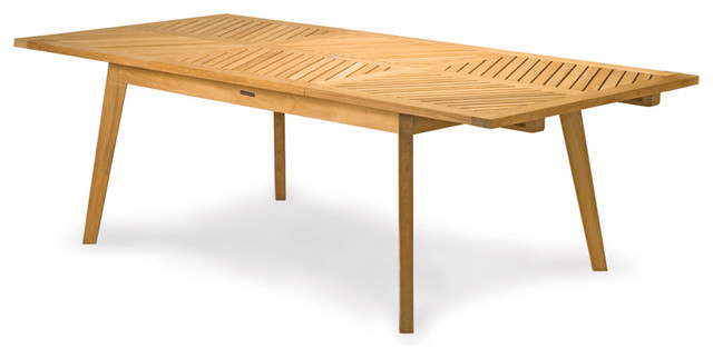 "Teak Extension Dining Table (94"" Long Extended) (View 17 of 20)"