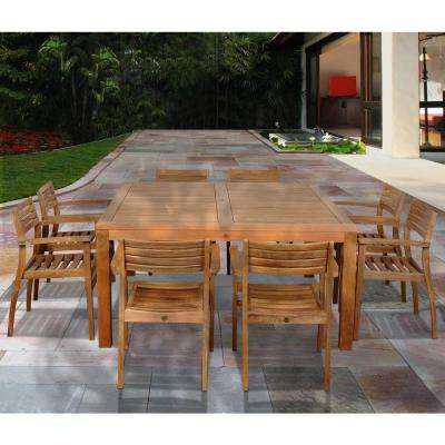 Teak – Patio Dining Furniture – Patio Furniture – The Home Depot Regarding Recent Outdoor Brasilia Teak High Dining Tables (View 17 of 20)