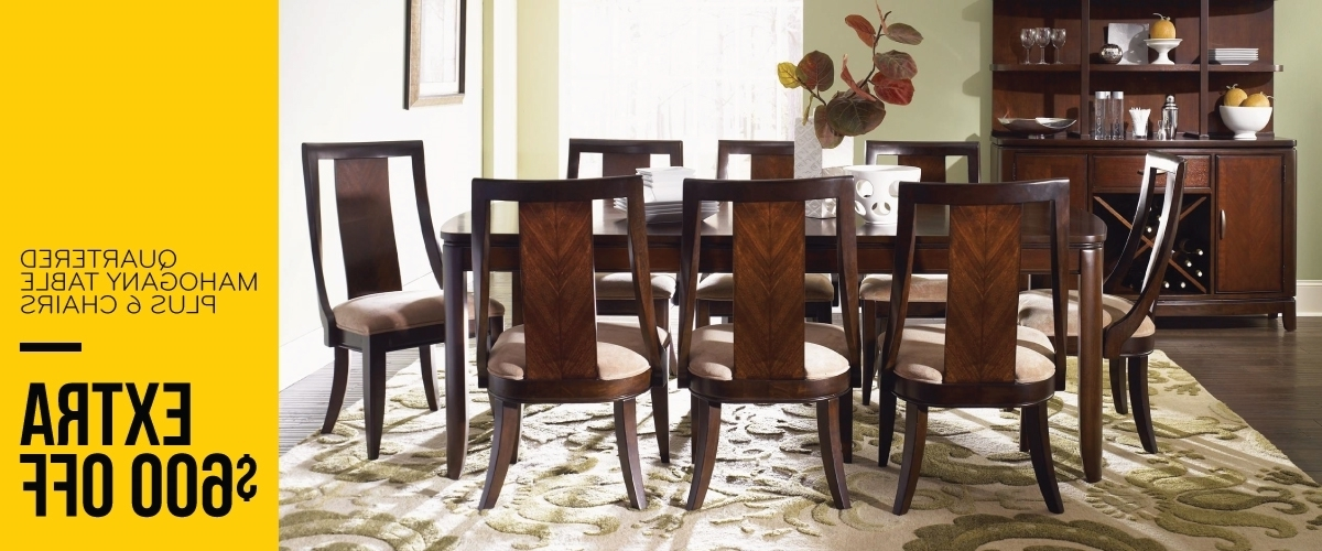 The Dump Luxe Furniture Outlet Throughout 2017 Chandler 7 Piece Extension Dining Sets With Wood Side Chairs (View 16 of 20)