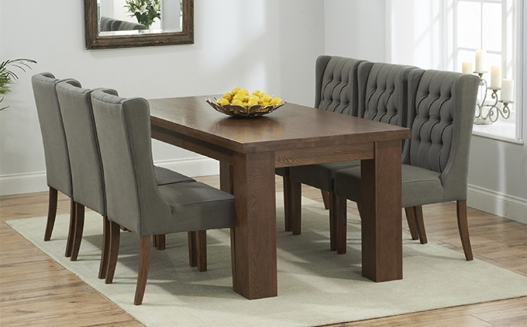 The Intended For Popular Dark Wood Dining Tables And Chairs (View 2 of 20)